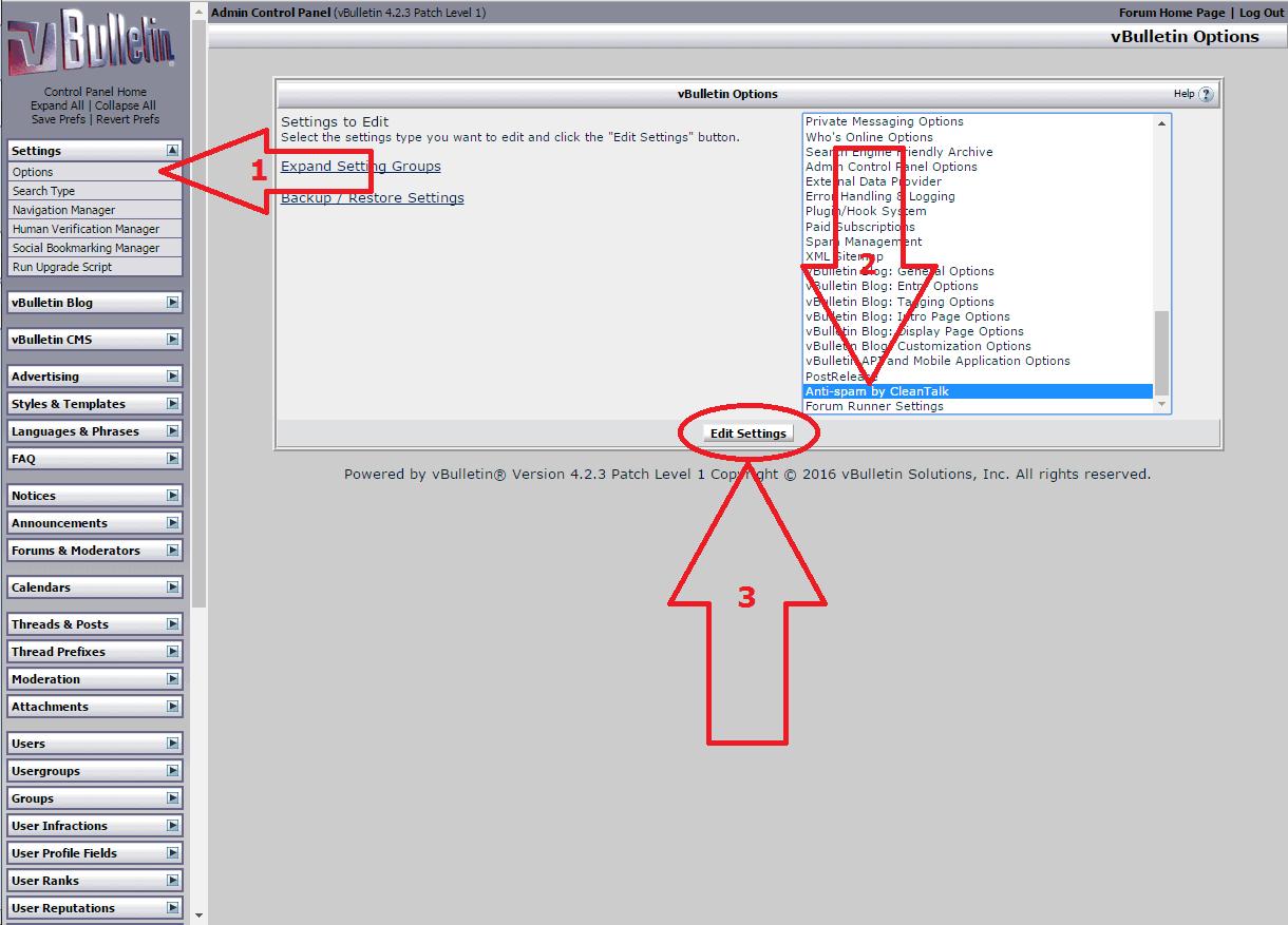 VBuletin 4 anti-spam mod configure