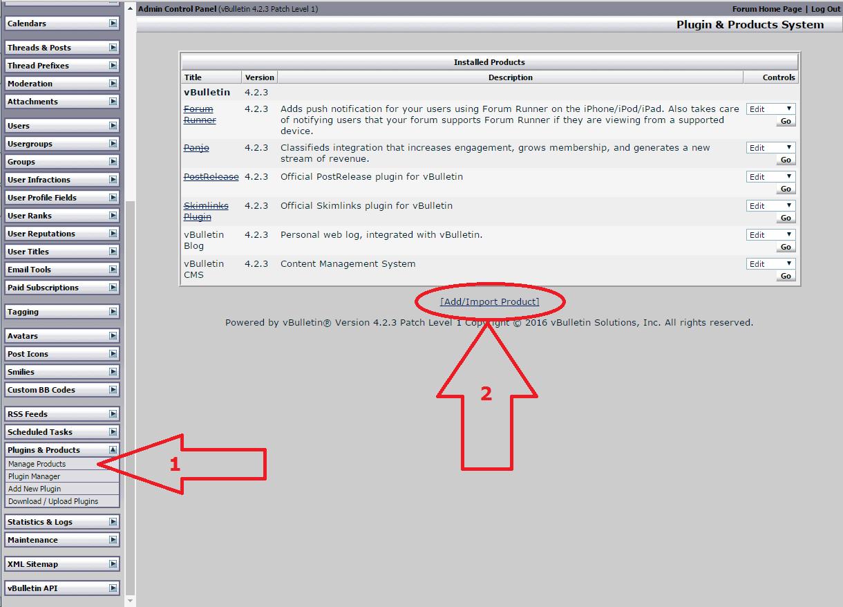 VBuletin 4 anti-spam mod install