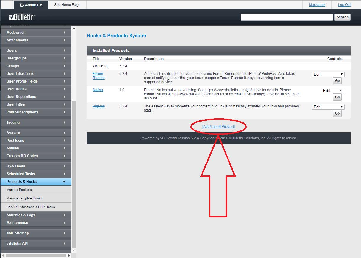 VBuletin 5 anti-spam mod install