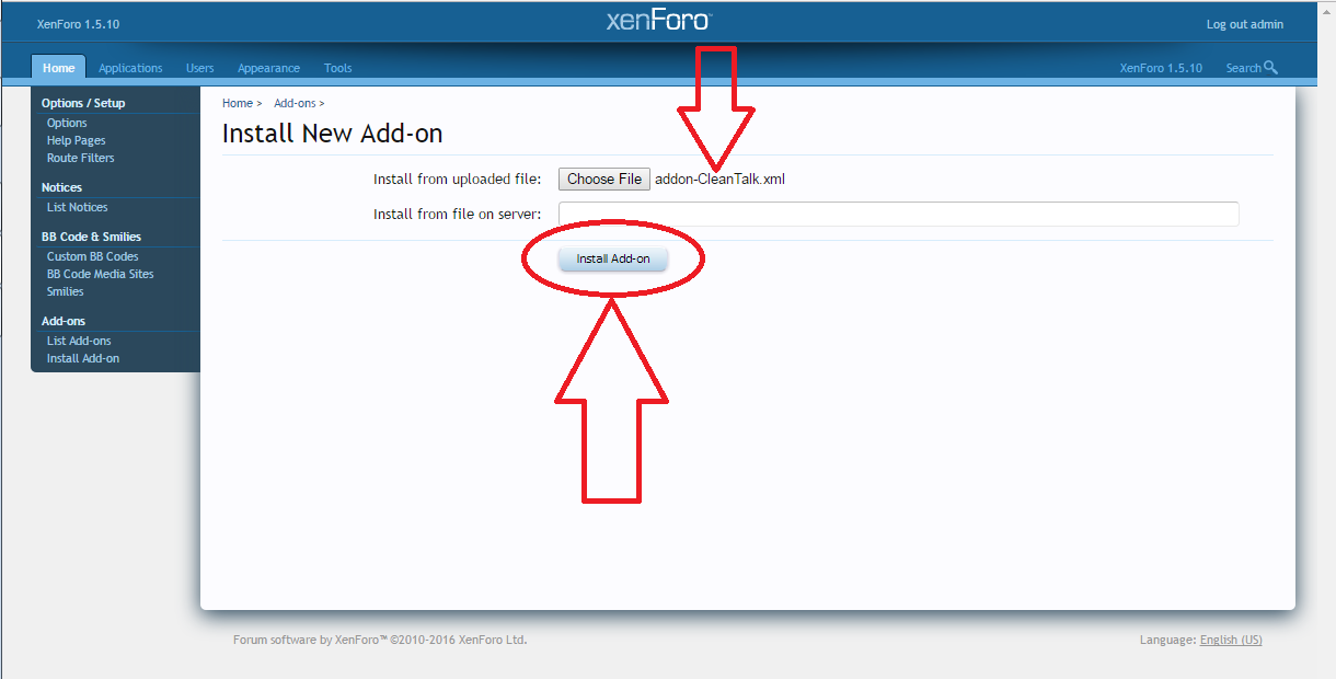 Xenforo anti-spam plugin install