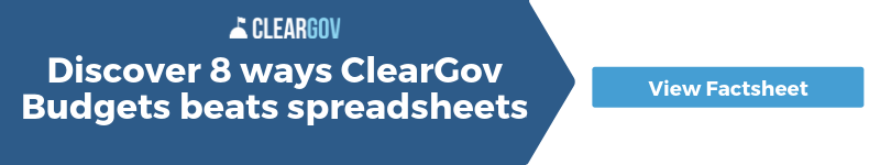 cleargov budgets beats excel