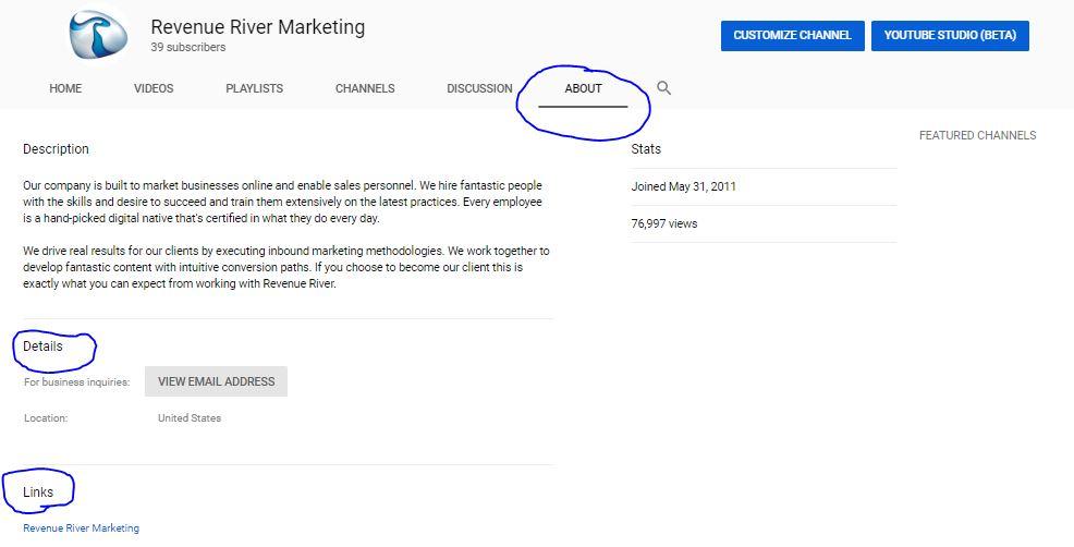 YouTube About us Marketing