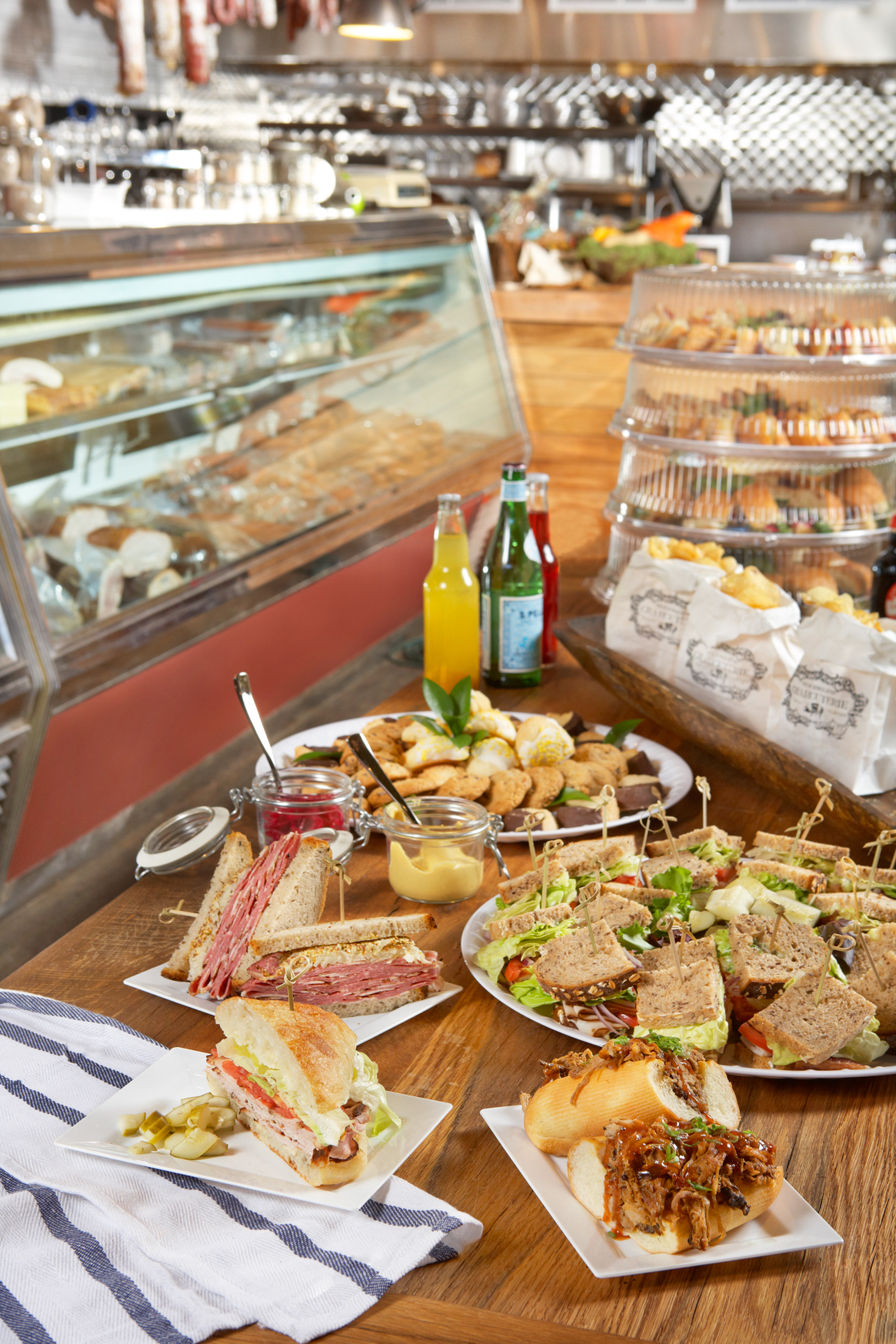 Moody's Delicatessen & Provisions caters with housemade charcuterie.