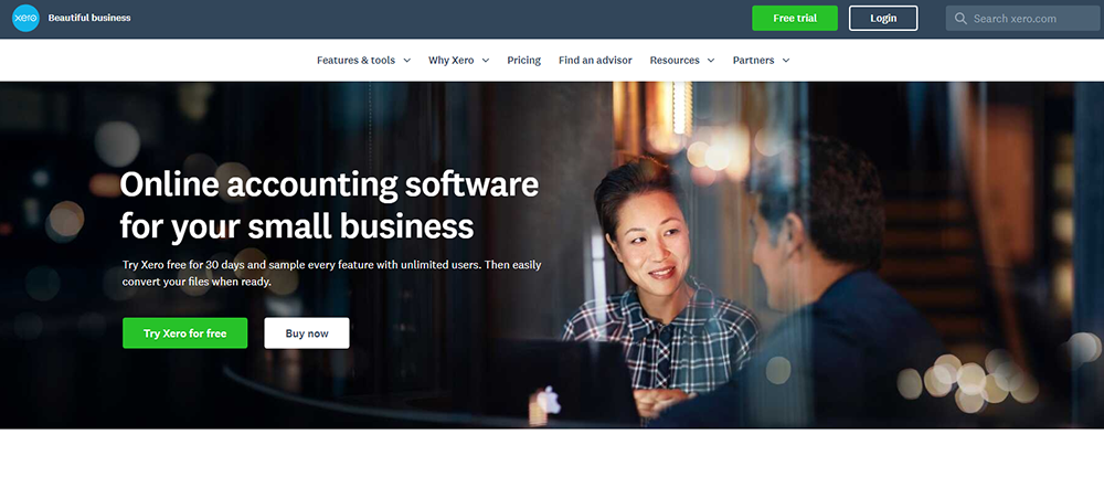 A screenshot of Xero, the accounting software that's the best alternative to QuickBooks.