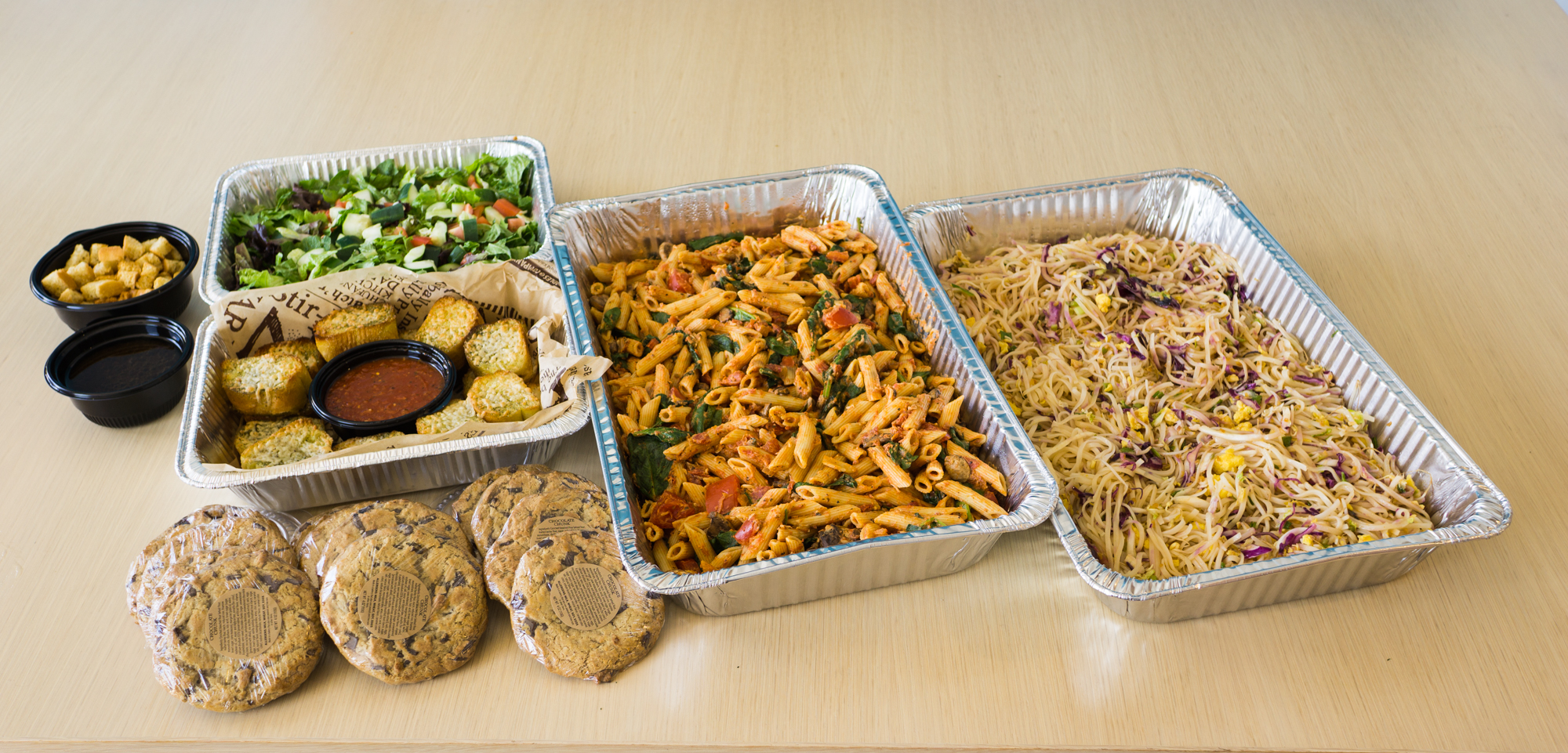 Whether you want a filling breakfast or lunch platter, it's easy to find delicious catering options from Noodles World Kitchen.