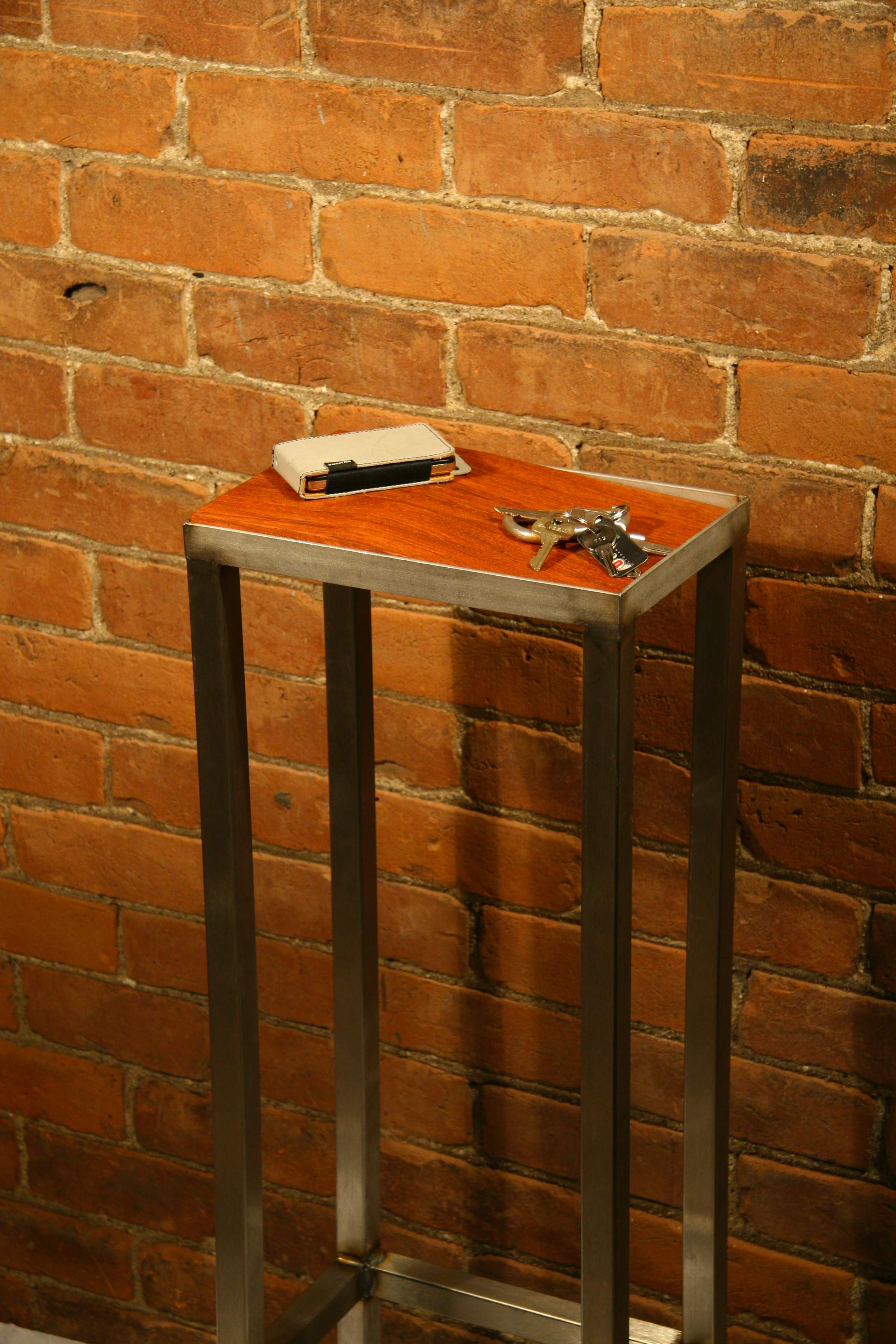 Side table with keys that helps with saving kitchen counter space