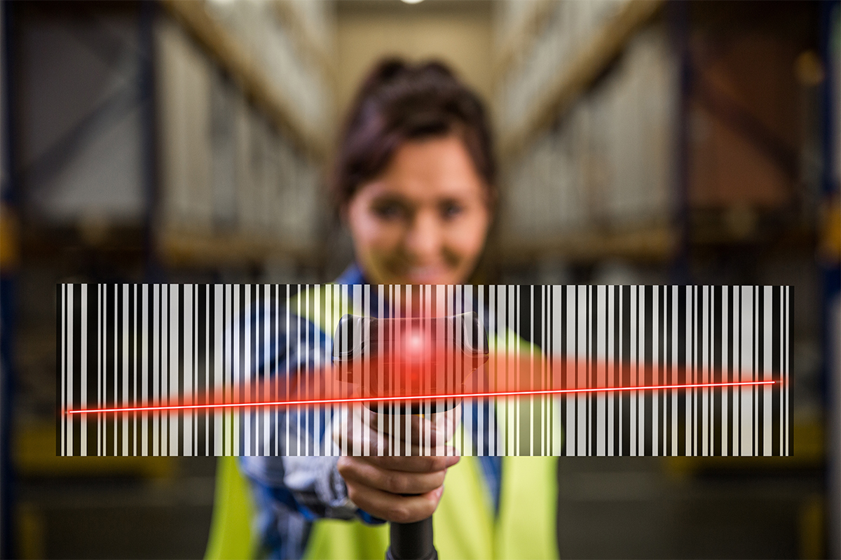 Inventory Management scanner in a warehouse