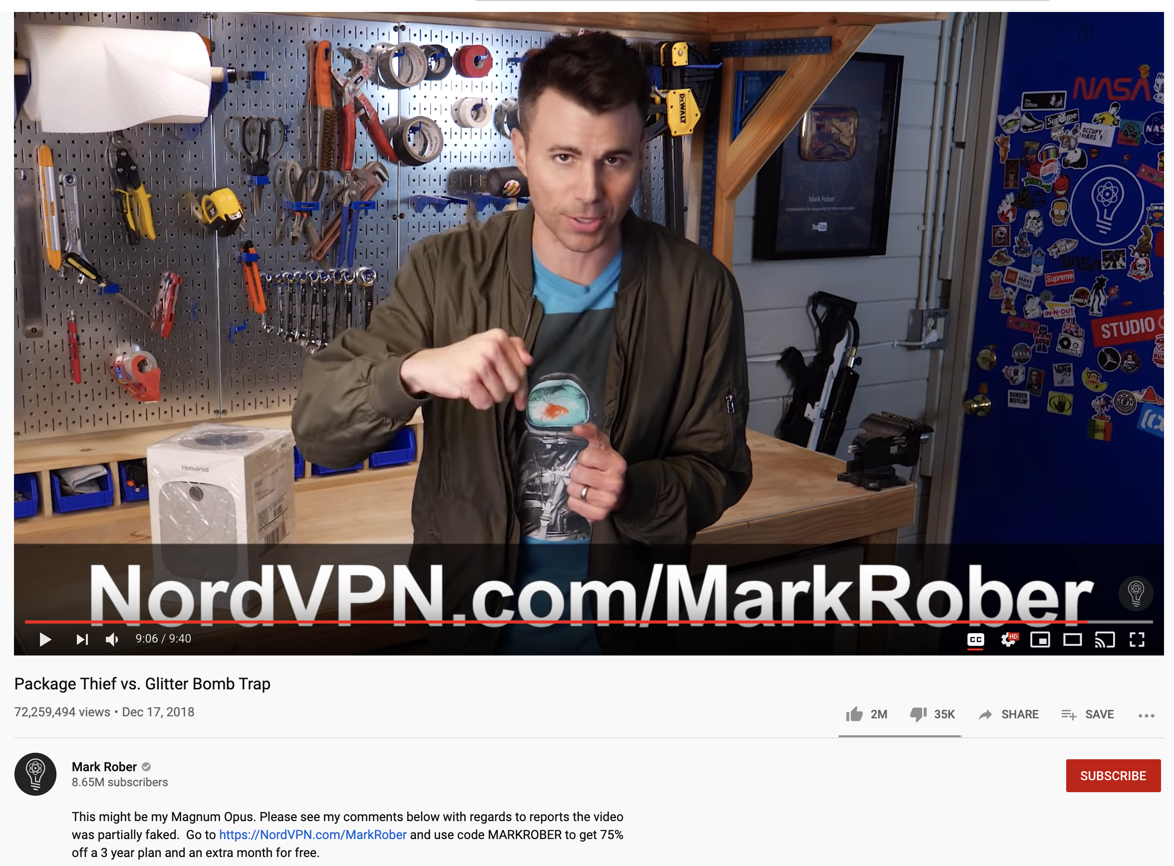 Mark Rober call to action example