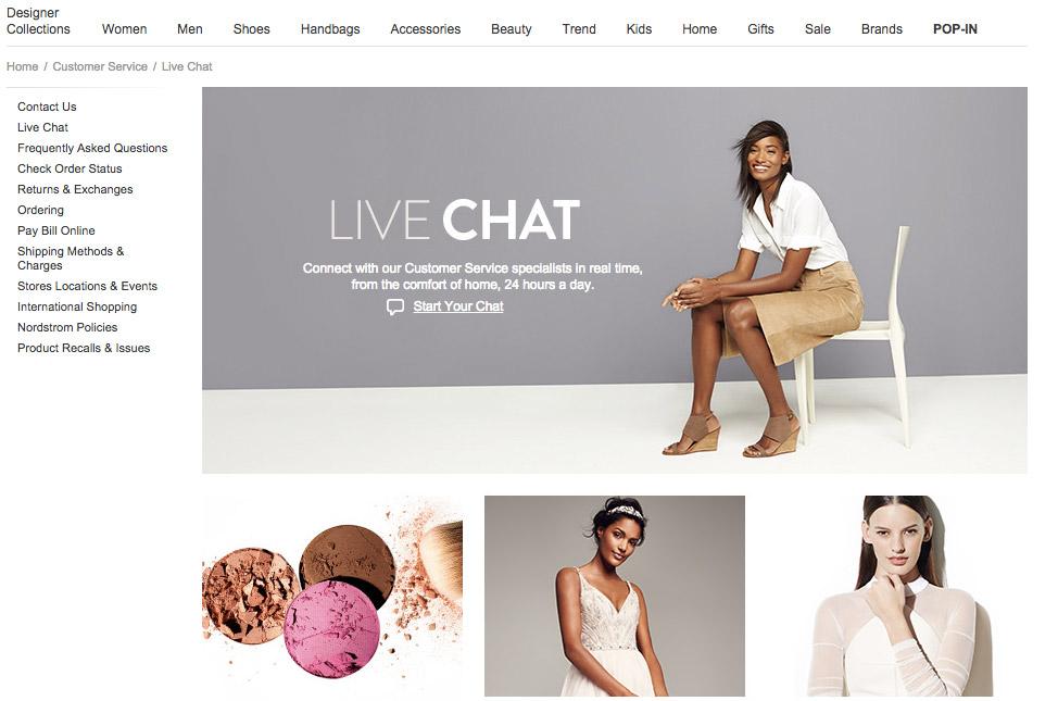 Digital commerce live chat