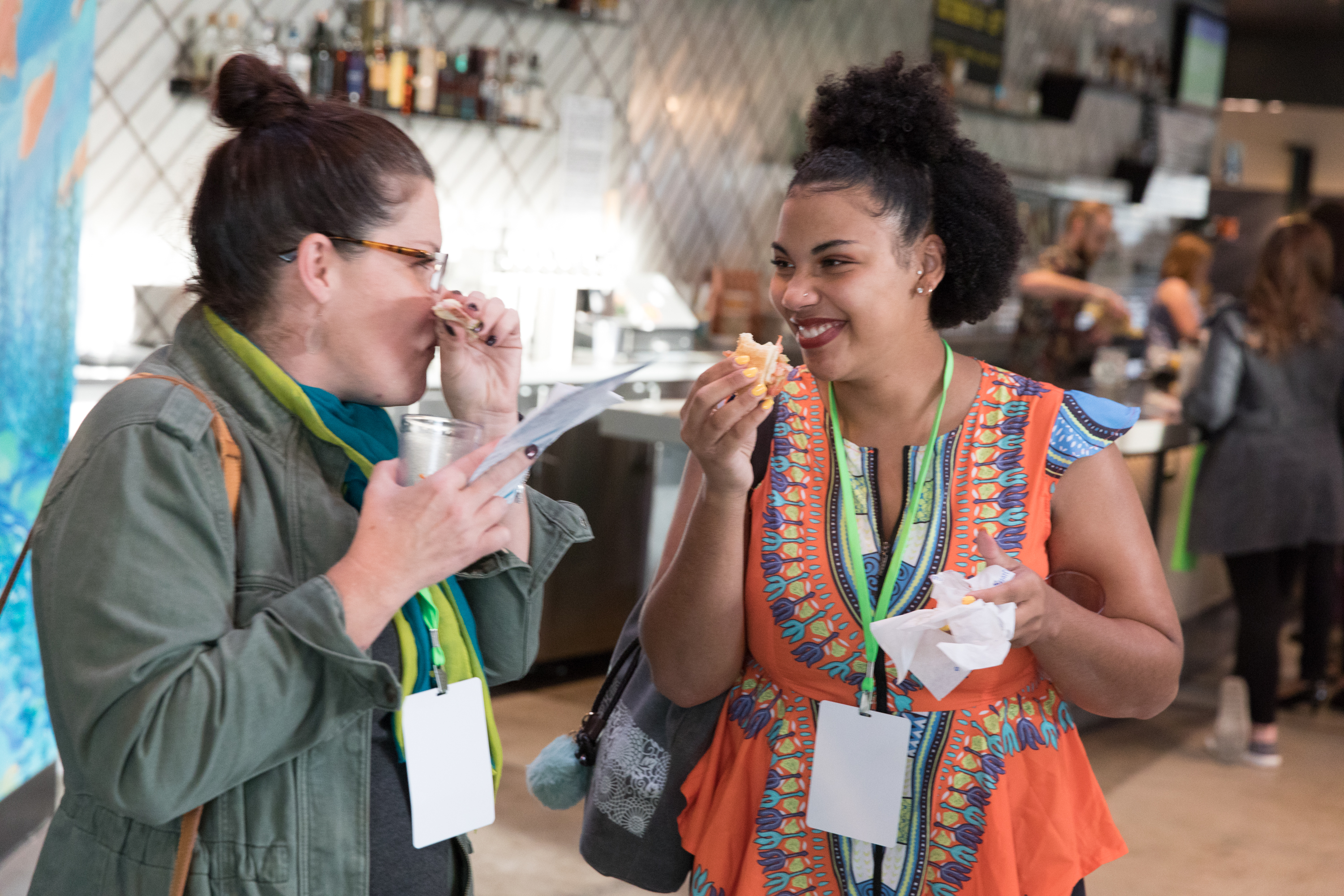 Our free food festival, ezFoodFest, landed in Denver recently; sponsored by ezCater, twelve of our partner restaurants cooked and served top-notch food to over 270 businesspeople after work.