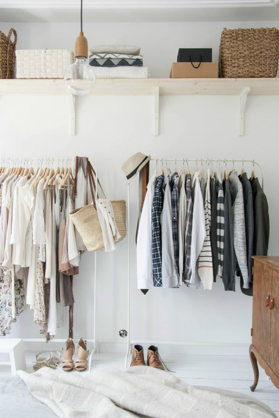 Everything You Need To Set Up An Open Closet In Your Bedroom The