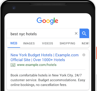 responsive search ads on mobile