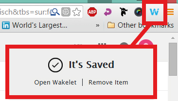 Chrome plugin for Wakelet