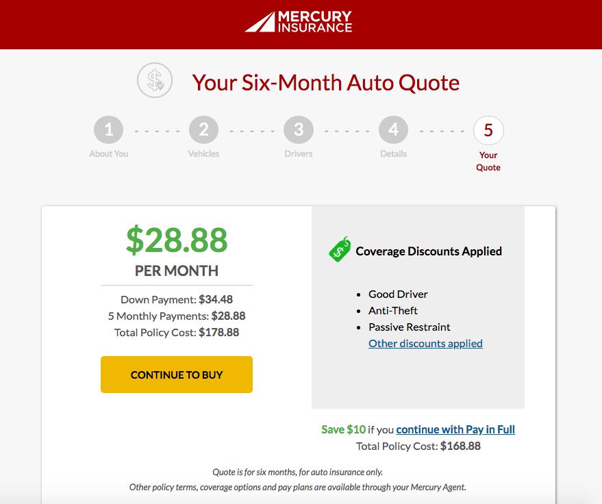 Mercury auto insurance review