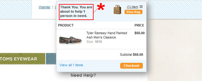 Donations increase order value in ecommerce