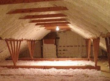 attic insulation contractors have insulated this attic