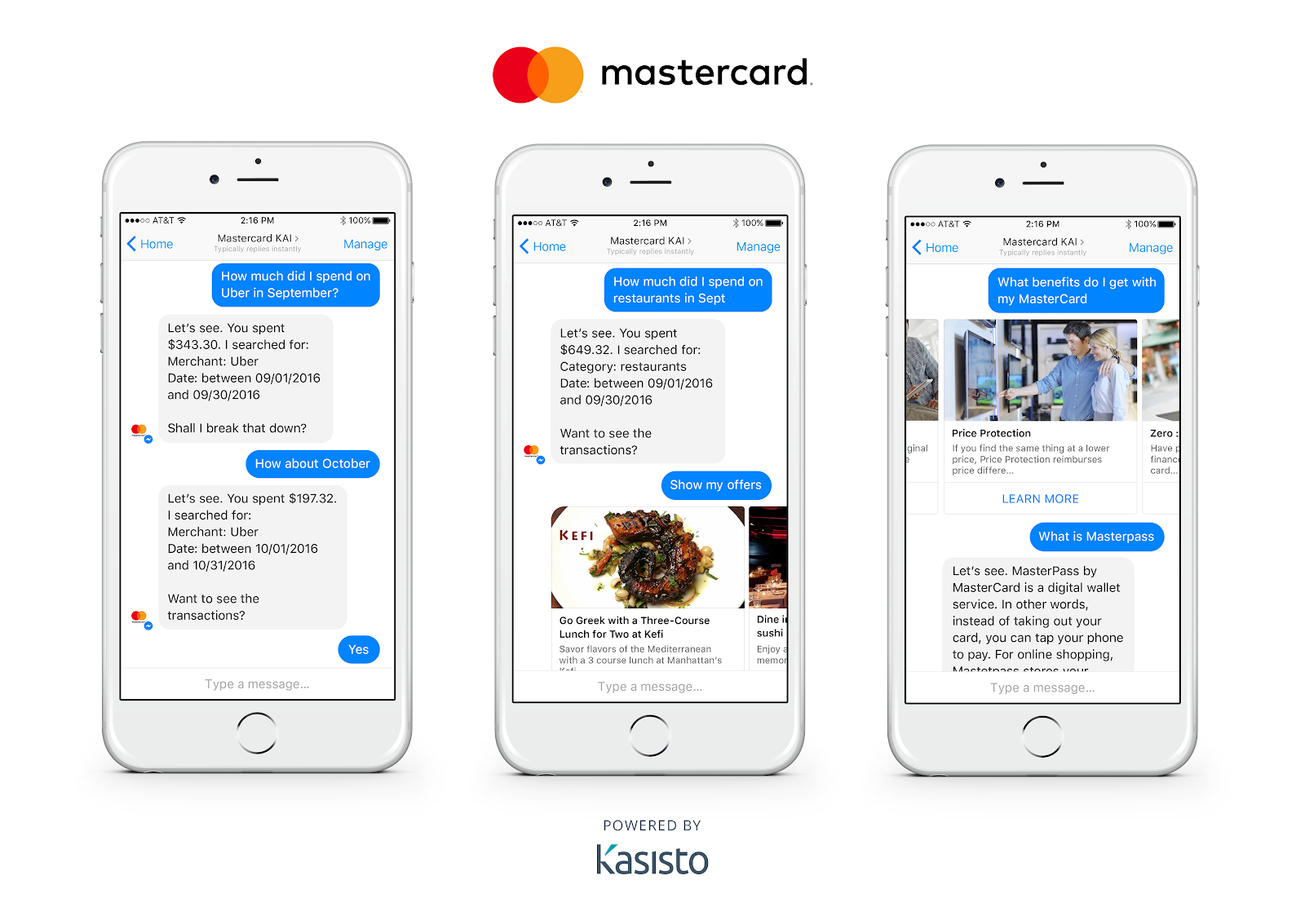 Mastercard's Facebook Messenger chatbot used for digital marketing