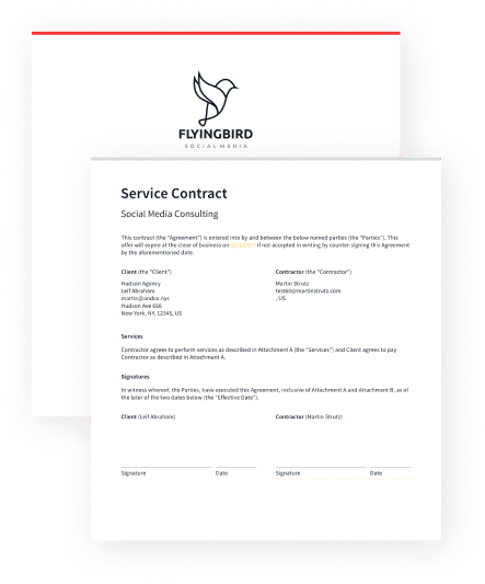 Service Contract Proposal