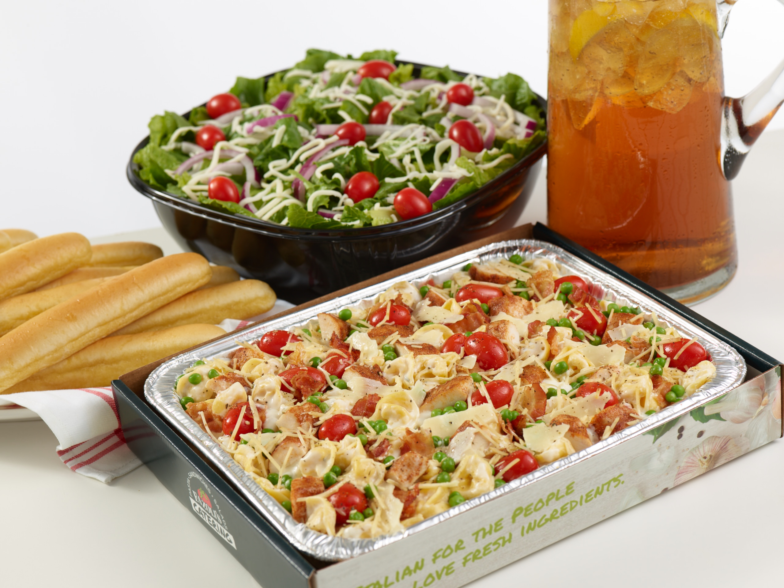 If you don't have hours to plan a meal for your office, try Fazoli's convenient catering packages.