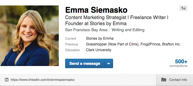 Emma Siemasko, Content Marketing Strategist and Freelance Writer