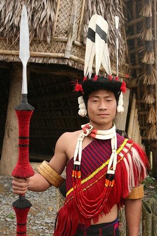 Nagaland India tribesman
