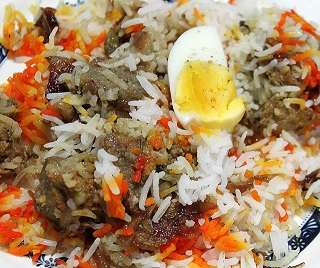 Briyani Indian food