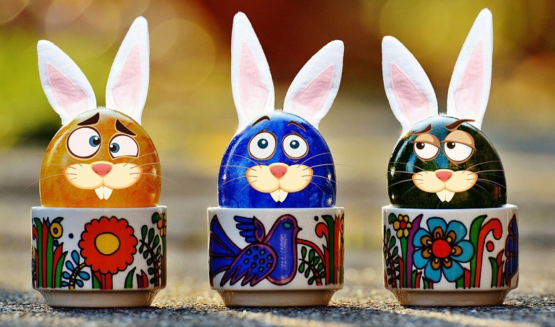 colorful easter egge