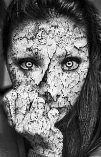 horror lady in gray
