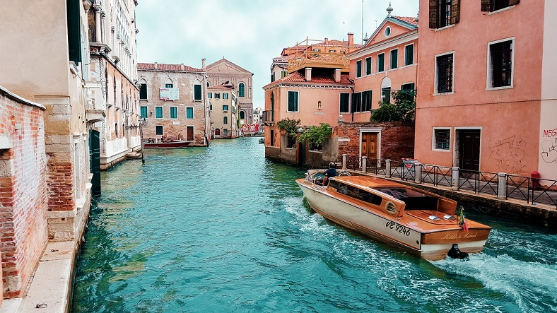 venice blue canal water