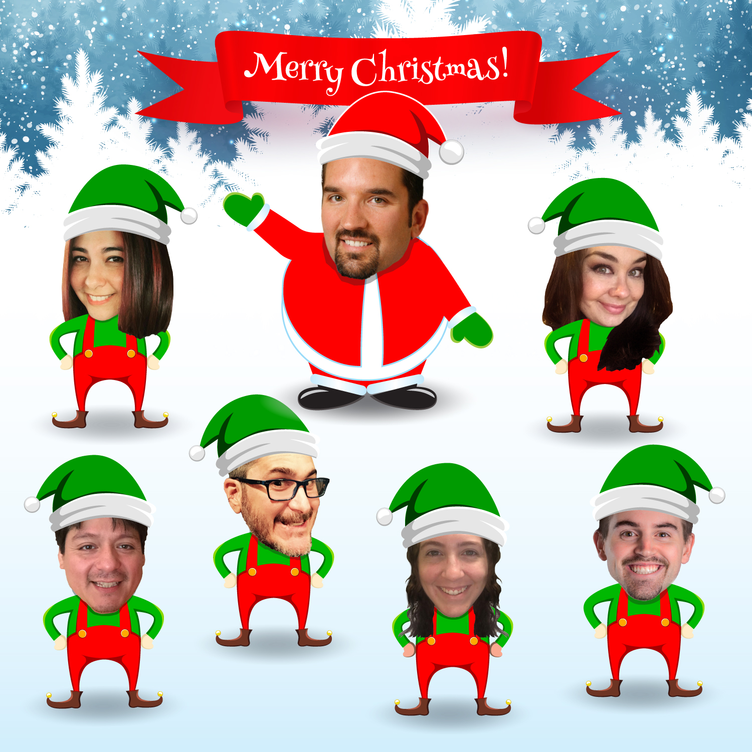 ok our graphic designer joey had a bit of fun with this one ha hope this brings a smile to your face as the team and i wish you and your - Merry Christmas Elf