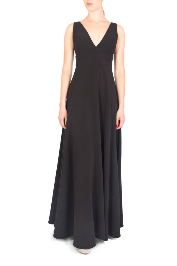 varios colores ahorros fantásticos venta barata ee. vestido largo de fiesta negro corte imperio - Click2dress