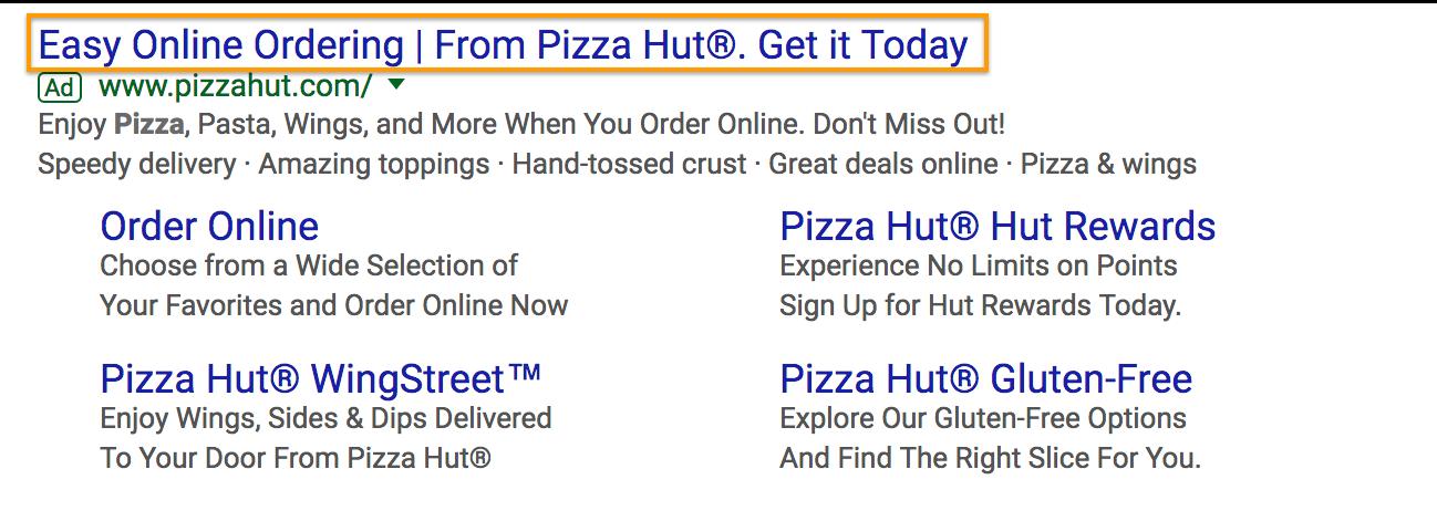 pizza-hut-search-ad-headline