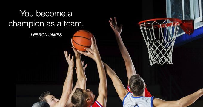 You become a champion as a team.