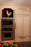 Integrated and built in appliances finish this kitchen.