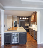 This kitchen cabinet design incorporates warmth in the modern lifestyle.