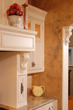 Traditional kitchen with decorative detail.