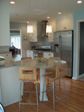 This breakfast area provides great seating in a small kitchen.