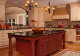 Large Tuscan kitchen located in Carmel, IN.