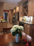 Modern Craftsman Style Galley Kitchen