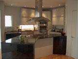 Modern kitchen with built in appliances.
