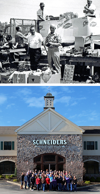 Schneiders then and now