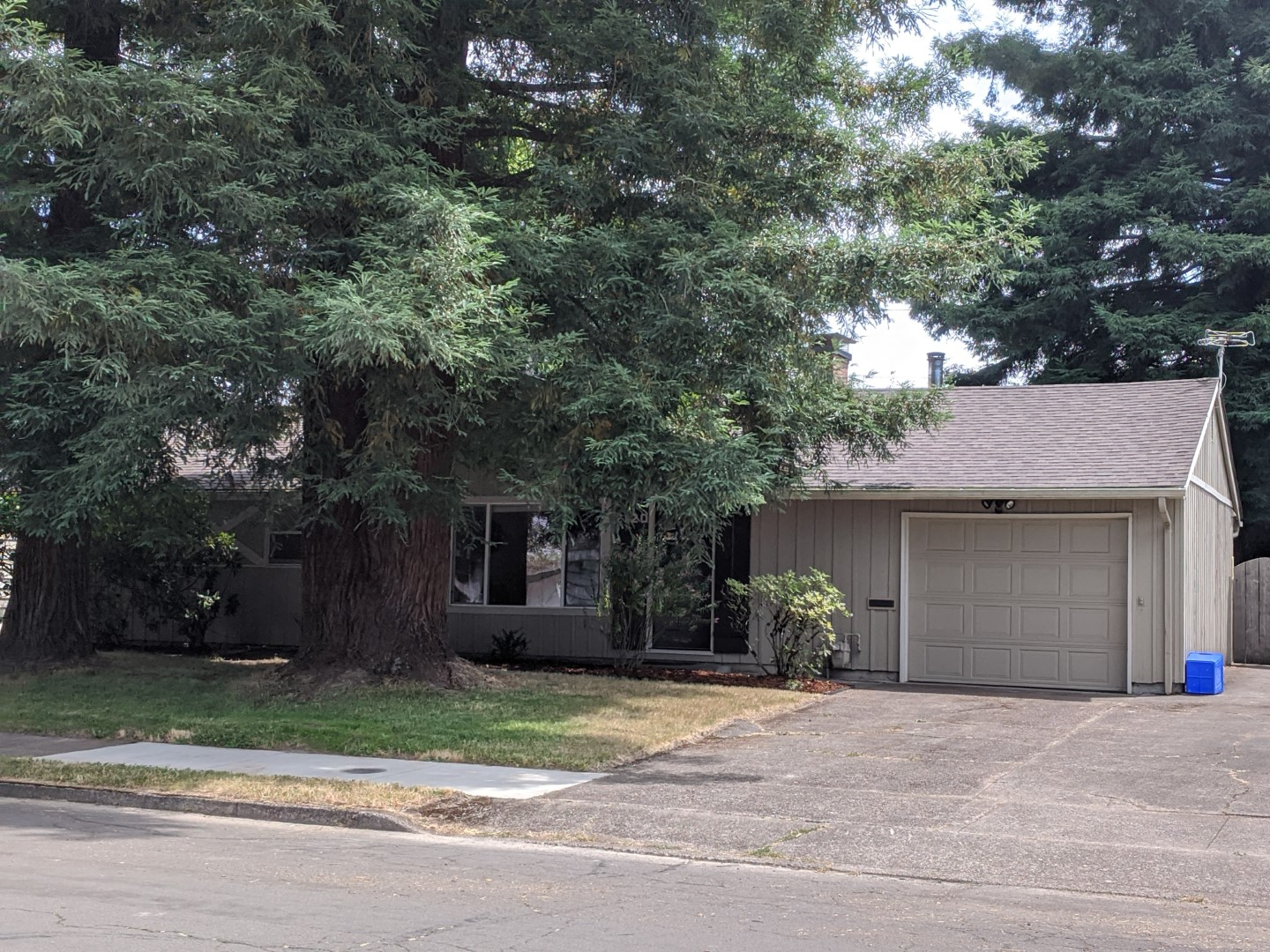 Three bedroom house in northwest Corvallis with one and a half bathrooms.   Fenced backyard with fruit trees and raised beds.  Remodeled in 2015, giving a convenient floor plan and updated kitchen.  Hardwood flooring throughout, with carpeting in the large bonus room opening to the backyard.  Certified wood stove on a raised hearth in the bonus room and a fireplace in the living room.  All appliances are included.   1424 sq. ft. plus garage.  View by appointment only: text 541-908-2446