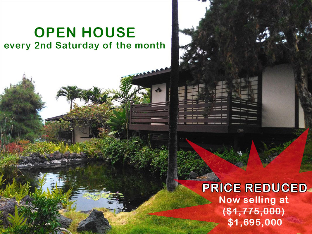 Located within the exclusive community of Keauhou Estates this stunning one-of-a-kind tropical villa with its Asian/Polynesian influence is a true darling of the cul-de-sac that provides a tranquil and private abode.  Upon entering the gate of this property you'll be welcomed by a beautiful Koi pond and the sound of cascading water from the waterfall.   It boasts of 5,500 square-feet of living space built in 5 separate buildings surrounded by a sprawling garden each emitting its own welcoming ambiance and energy. There is also a garage that could house 2 cars.  The main house has a master suite a large living room that opens to the pool deck, a kitchen and an adjacent dining area.  The lower level of the main house has a living room, three bedrooms, 2 bath and a convenient access to the pool and yard. This living area was built for your guest. There is also a separate structure that houses 2 quest suites with their own bathrooms.   An inviting open air sitting area is waiting at the summer house located near the middle of the property. It is such an ideal place to relax and meditate. At the top of the property is the tea house and is characterized with its enchanting view of the pond and ocean.  This property comes with all its beautiful furnishing except for some pieces of arts.   Keauhou Estates is among the finest neighborhoods in the Big Island and has a controlled access and 24 hour security. Don't miss this opportunity to own this impressive property that could be your perfect retreat and yet be in close proximity to shopping centers.