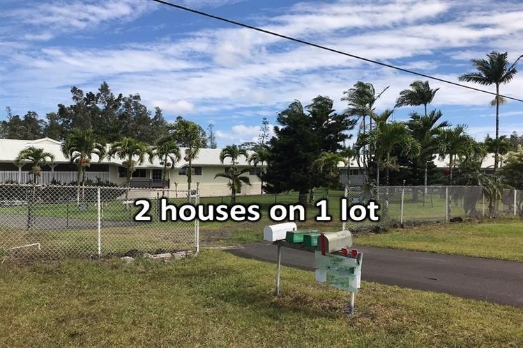 """This listing is intended to resonate with those who have foresight enough to invest now to meet the rising need for housing. There are two good-size carefully maintained and thoughtfully updated homes on one lot that enjoy piped in county water. Each house has its own electric and water meters and is fully fenced. One house has more than 1800 sf of living area, 4 bedrooms, a study/office area and 2 full bathrooms The """"smaller"""" house has 1280sf of living area, 3 bedrooms, 2 full bathrooms and an office/study area off the kitchen.  The bigger house has a huge living room with high vaulted open beam ceilings attached to which are two crystal/glass chandeliers. The master suite is separated from the rest of the three bedrooms for increased privacy. A spa/Jacuzzi in the master bath offers a good stress-relieving soak after a hard day's work. The kitchen is cavernous with granite tiled counters and plenty of cabinet and storage space. There are ceiling fans throughout the house to augment the natural ventilation from the many windows all over the house. A lengthy side deck overlooking the back yard is the perfect setting for al fresco dining or for just simply hanging loose.  Some of the updates on the two houses include: New wood laminate flooring with 15-30 year warranties, new bathroom vanities and toilets, new kitchen countertops and new doors.  Plan for the future now & invest on this rare multi-family friendly listing before the cyclical real estate market turns significantly & prices skyrocket again."""