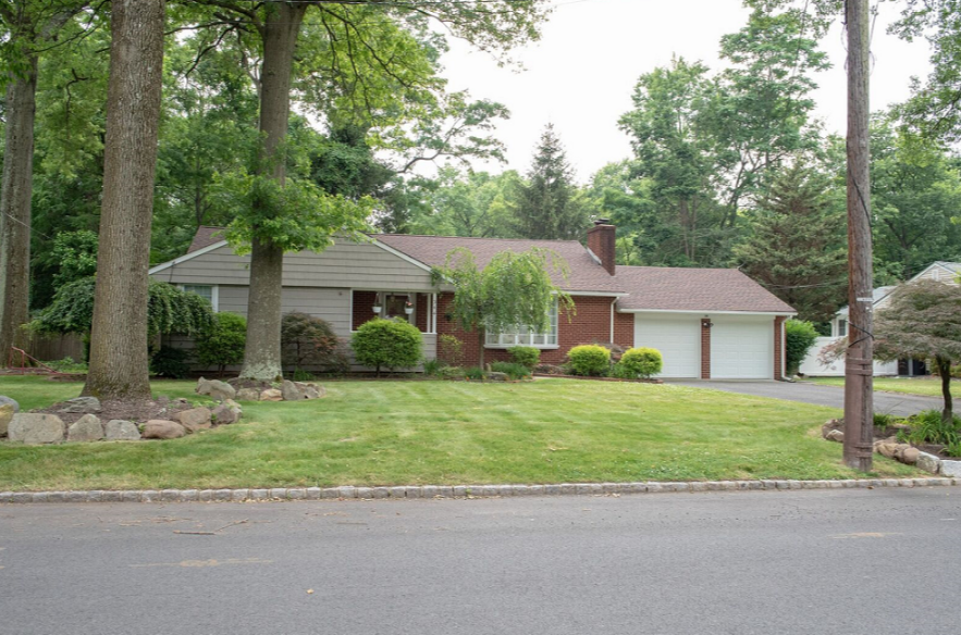 Exclusively listed by Michelle Pais Group - Signature Realty NJ. Please call 201-757-4760 for showing instructions.Charming and exquisite 3 bedroom ranch located in a desirable tree lined cul-de-sac in Scotch Plains. This updated ranch features an updated eat in kitchen, master bedroom with on suite, 2 car garage with access to the inside of the home, recess lighting, and much more. Enjoy cold nights in front of any of the two fireplaces offered in the living room and family room. In the summer enjoy a swim in your very own in-ground pool nestled in a private backyard.