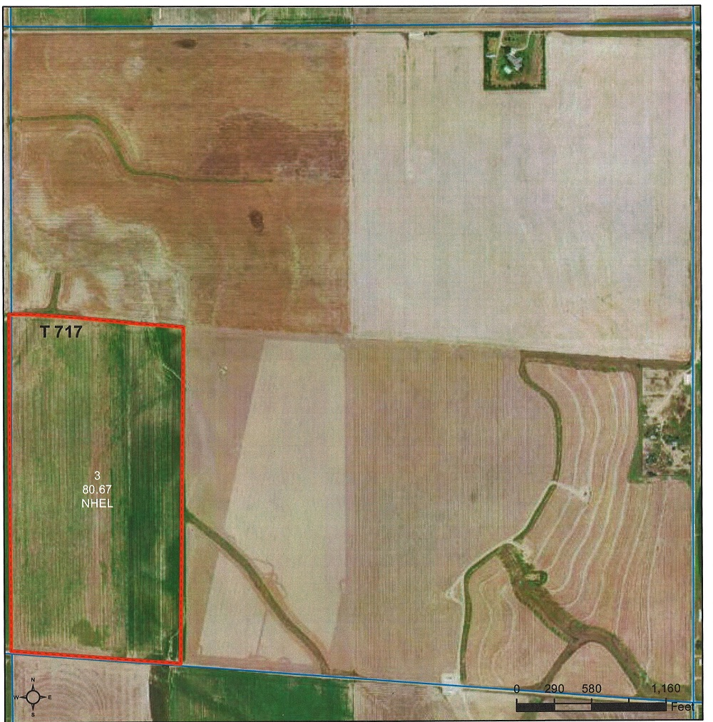 Good cultivated dryland 80 with Harney soil types and minerals are intact.  Actual acres 80.67+/-  Cash lease with 2 payments per year $1,800.00 June and $1,800.00 December for a total of $3,600.00 per year.  Planted to milo and possession with after fall harvest.