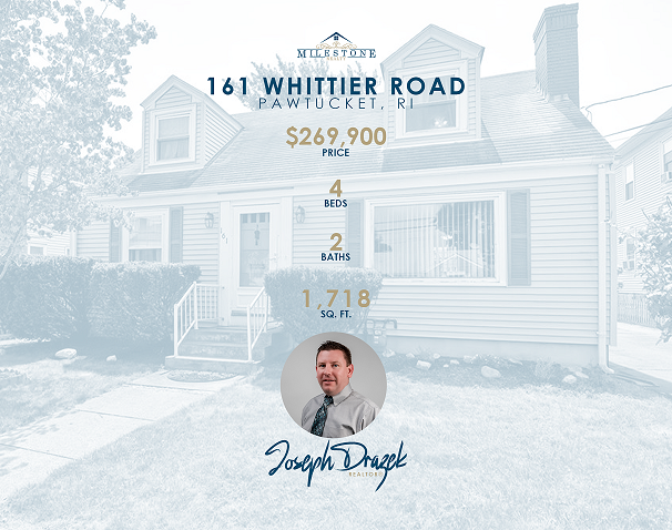 """Welcome to Whittier Road! Charming """"As-Is"""" Cape nestled in the Slater Park area of Pawtucket. Great location, just a block from Armistice Blvd, a few minute walk to Slater Park, the bike path & Near Everything! Loads of potential for this home which boasts newly installed IBC On-Demand Gas Heat and Hot Water System, 2 car detached garage, plus paved, off street parking for at least another four vehicles. Along with 2 Full bathrooms with tub/shower - City records indicate this property as a two family, and can easily be converted back as it has two electric meters and dual 100amp panels with circuit breakers. Currently is utilized by just one family, but imagine the legal In-Law possibilities. Added family room with walk out deck leads to mostly fenced backyard area. Fire pit to stay. Small office flatscreen TV and Mount included! Full basement with sink and Maytag Washer / Dryer - lots of storage area & workbenches included. Mostly original hardwoods in formal dining room and bedrooms on both levels along with tile, laminate and vinyl. Property is being sold """"As-Is"""". Contents will be removed prior to closing, but most items are negotiable. Buyer and Agent to do all due diligence and research. A little work and some new ideas can really transform this """"blank slate"""" house into Your beautiful new home. See you soon and Welcome Home!"""