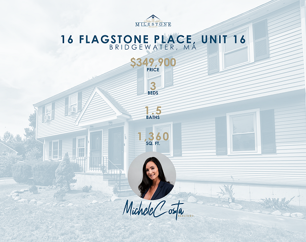 Immaculate, TURN-KEY, 3 Bedroom 1.5 Bath, condo/half duplex, is located close to desirable Bridgewater's town amenities. First showing will be at the OPEN HOUSE Sat 6/26 11-1pm. & Sun 6/27 1-2:30pm.  Newly updated top to bottom. This home features a modern style updated kitchen awaiting your purchase of your style appliances, Andersen slider door that leads you out to your no maintence composite deck over looking large back yard with storage shed.  Large living room with double closets for extra storage/coats. Brand new wall-to-wall carpet leading up stairs which features a full bath with marble flooring and counters, tub/shower with a linen closet. All 3 bedrooms and additional**home office has brand new wall-to-wall carpet. Pull down attic that leads up to a full size clean space for lots of storage if needed. Newly renovated bonus room in basement that can be used for exercise/family/playroom...lots of possibilities. Basement also has a Laundry area for washer & dryer hook up.