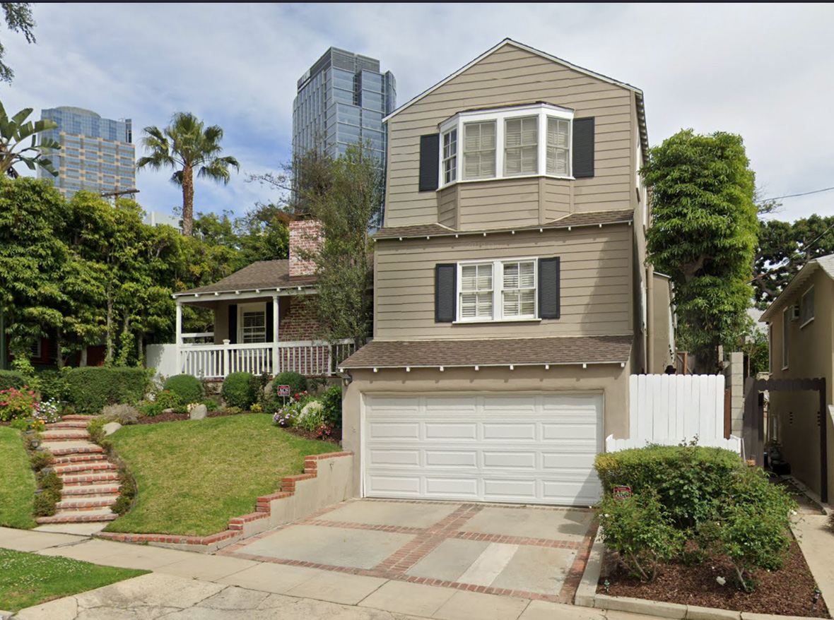 Charming Cape Cod home nestled into the gently sloping hillside of the sought after Century City neighborhood. 4 bd + 3 ba. Den could be 5th bedrm. Pitched, wd planked ceilings in Lvg rm & Master. Sunny kitchen/family rm w/French drs. Kitchen features professional wolf range w/salamander grill/broiler. Hdwd flrs. Tremendous master upstairs, w/hi ceilings, bay window seat, huge closet w/built in drawers, luxurious bath. The yard is a lush, beautifully landscaped garden sanctuary. A true gem!