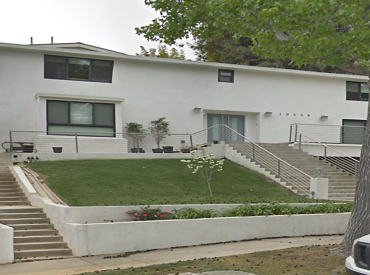 This Little Holmby 1950's Contemporary has been happily occupied by the same UCLA Professor's family since it was built in 1957. Originally featured in an architectural magazine, it has 3 bedrooms, 2.5 bathrooms, and a den. The living room has two story ceilings and can be seen from the top of the staircase. Living room and breakfast room open to the huge patio. Up the terraced hill is a giant flat pad that has a large permitted guest house with bath. In the front of the house is a two car direct access garage. This home is waiting for you to bring your contractor and designer and make it your own. Short distance to UCLA and Warner Ave Elementary School.